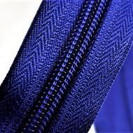 Fermoare nylon detasabil nr. 5 - 70 cm albastru