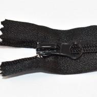 Fermoare nylon fixe nr. 5 - 40 cm negru