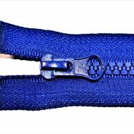 Fermoare plastic detasabile nr. 5 - 50 cm albastru