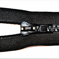 Fermoare plastic detasabile nr. 8 - 70 cm negru