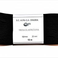Tresa elastica Eva 20 mm - 10 m / rola negru