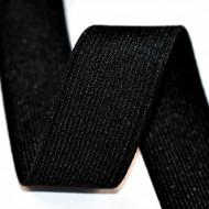 Elastic Moise 30 mm negru - 25 m rola
