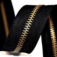 Fermoare metal detasabile nr. 5 - 60 cm negru