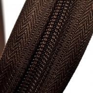 Fermoare nylon detasabil nr. 5 - 80 cm maro