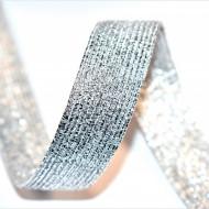Elastic lurex 20 mm - 10 m / rola argintiu