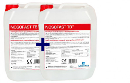 NOSOFAST TB - dezinfectant spuma pentru suprafete 5 l - 1 + 1 CADOU