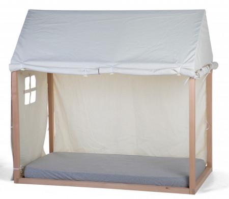 Slika Tenda/prekrivač za krevet u obliku kućice, 70x140 cm, bela