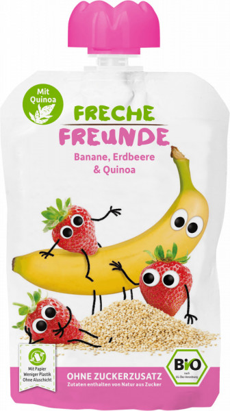 Slika Freche Freunde kaša od banane, jagode i kinoe