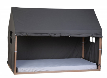 Slika Tenda/prekrivač za krevet u obliku kućice, 90x200 cm, antracit