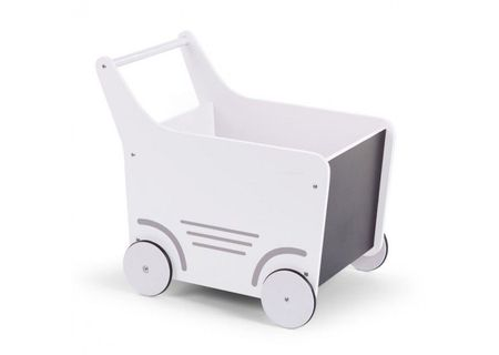 Slika Drvena kolica za igračke/guralica, white