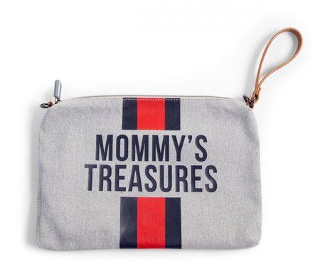 Slika MOMMY'S TREASURES CLUTCH - GREY STRIPES RED/BLUE