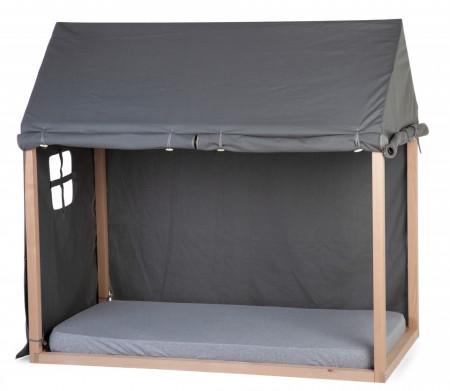 Slika Tenda/prekrivač za krevet u obliku kućice, 70x140 cm, antracit