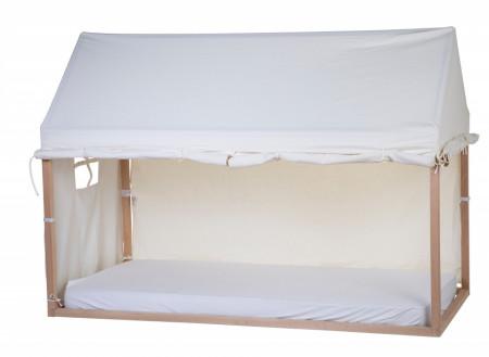Slika Tenda/prekrivač za krevet u obliku kućice, 90x200 cm, bela
