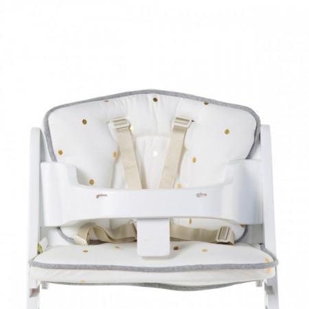 Slika Univerzalni jastuk za hranilicu, beli sa zlatnim tačkama