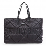 FAMILY BAG, QUILTED PUFFERED BLACK