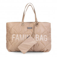 FAMILY BAG, QUILTED PUFFERED BEIGE