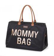 MOMMY BAG BIG, ručna torba, crno zlatna