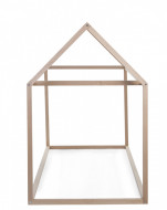 Krevet u obliku kućice, 90x200 cm, natur