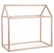 Ram za krevet u obliku kućice, 70x140 cm, natur