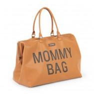 MOMMY BAG, LEATHERLOOK BROWN