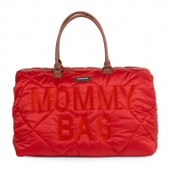 MOMMY BAG, QUILTED PUFFERED RED
