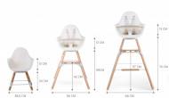 Set dugačkih nogare za EVOLU stolicu, beli