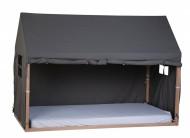 Tenda/prekrivač za krevet u obliku kućice, 90x200 cm, antracit