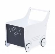 Drvena kolica za igračke/guralica, white
