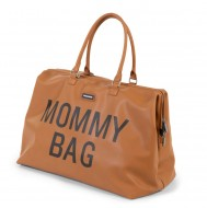 MOMMY BAG, LEATHERLOOK BROWN