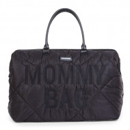 MOMMY BAG, QUILTED PUFFERED BLACK