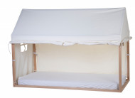 Tenda/prekrivač za krevet u obliku kućice, 90x200 cm, bela