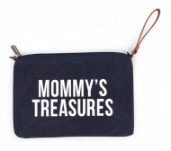 MOMMY'S TREASURES CLUTCH - NAVY WHITE