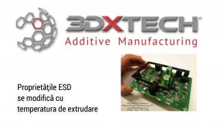 Proprietățile ESD se modifică cu temperatura de extrudare