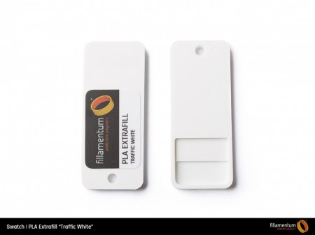 Mostra printata de PLA ExtraFill Traffic White