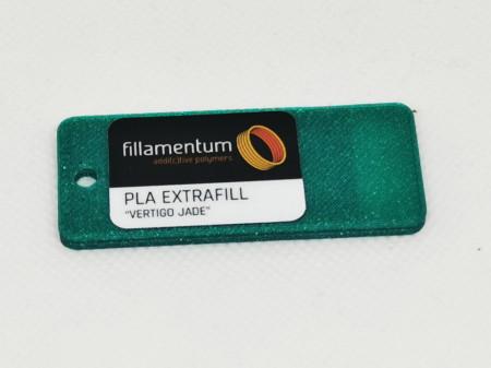 Mostra printata de PLA ExtraFill Vertigo Jade
