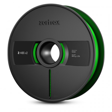Filament 1.75 mm Z-ABS Green v2 800g [Zortrax]