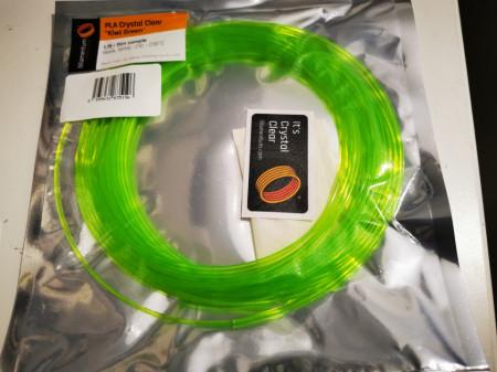 Mostra filament 1.75 mm PLA ExtraFill Crystal Clear Kiwi Green 15m