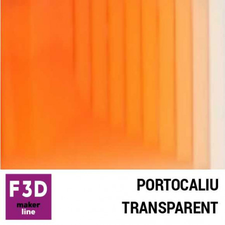 Fiola colorant pentru 500g rasina BASIC - 12,5g - culoare: Portocaliu transparent