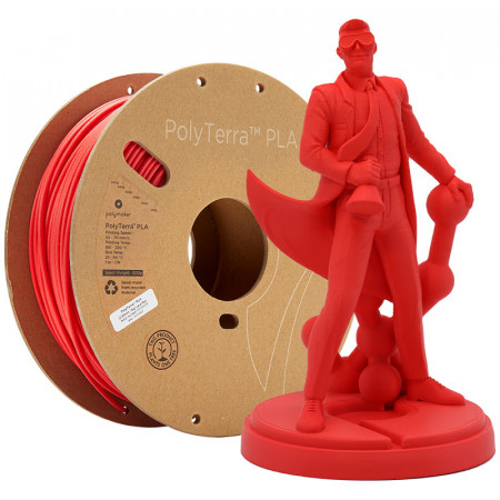 Filament PolyTerra PLA Lava Red (rosu)1kg