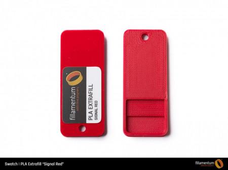 Mostra printata de PLA ExtraFill Signal Red