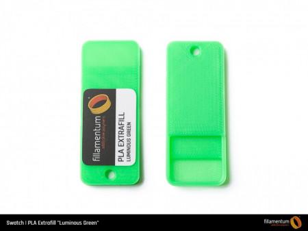 Mostra printata de PLA ExtraFill Luminous Green