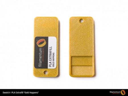 Mostra printata de PLA ExtraFill Gold Happens