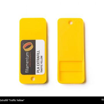 Mostra printata de PLA ExtraFill Traffic Yellow