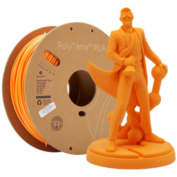 Filament PolyTerra PLA Sunrise Orange (portocaliu)1kg