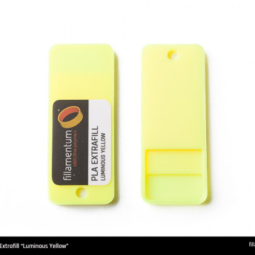 Mostra printata de PLA ExtraFill Luminous Yellow