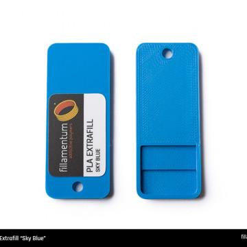 Mostra printata de PLA ExtraFill Sky Blue