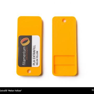 Mostra printata de PLA ExtraFill Mellon Yellow