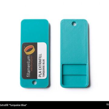 Mostra printata de PLA ExtraFill Turquoise Blue