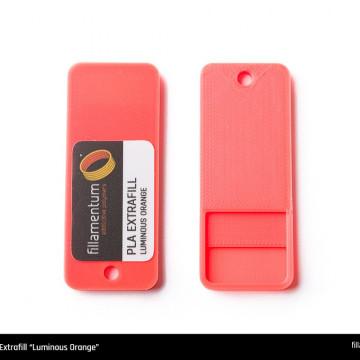 Mostra printata de PLA ExtraFill Luminous Orange