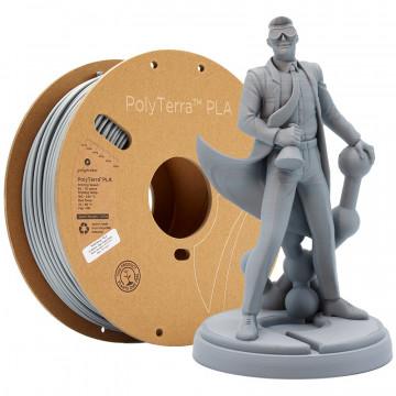 Filament PolyTerra PLA Fossil Grey (gri)1kg